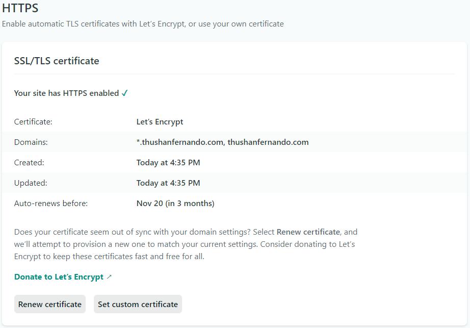 DNS Propagated, SSL Certs provisioned!